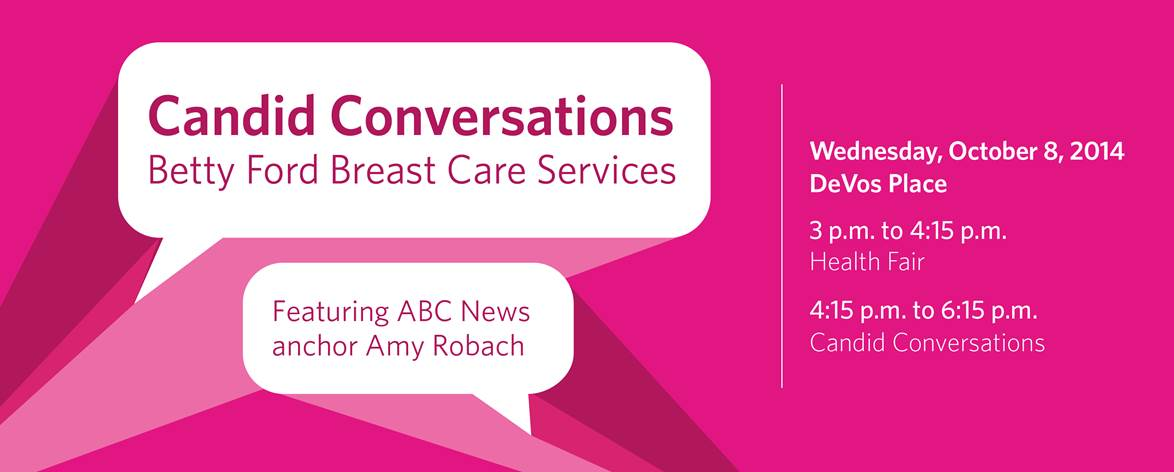 Betty Ford Breast Care Services Events - Banner